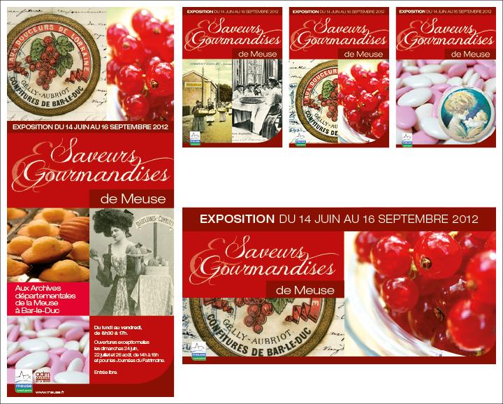 Affichage Conseil général de la Meuse, exposition Saveurs et gourmandises de Meuse