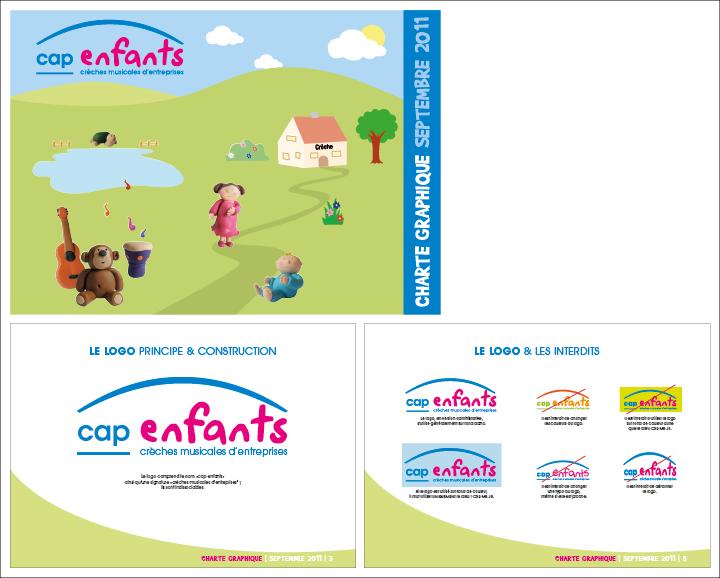 Charte graphique et logo Cap enfants