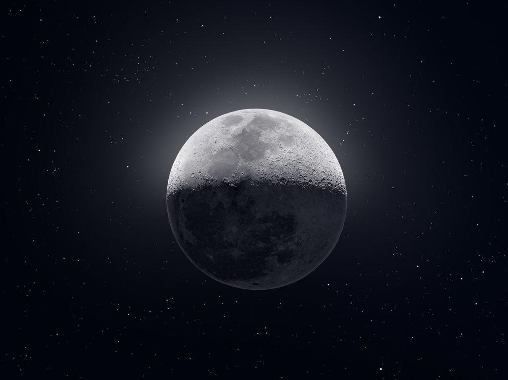 Photo de la Lune d'après Andrew McCarthy